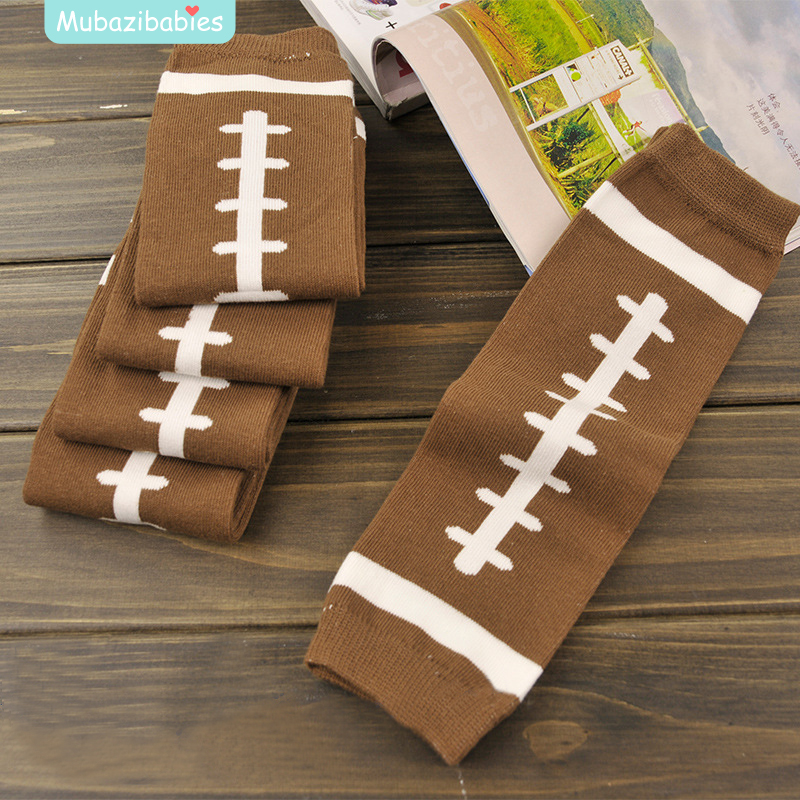 US Football Baby Arm Leg Warmers Cotton Toddler Boys Girls Legging Brown Color