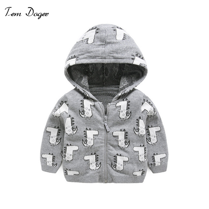 8ca5e14e2 Tem Doger bebé otoño bebé ropa de bebé de dibujos animados chaqueta con  capucha de algodón para 3-24 m bebé recién nacido chico chica prendas de  Vestir ...