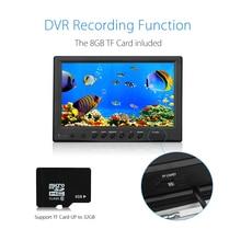 EYOYO WF09 30m 8GB IR 9″ LCD 1000TVL Fish Finder Fishing Camera DVR Recorder Sunvisor