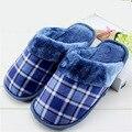 Плюс размер тапочки хлопок тапочки домой крытый толстые тапочки зима плюшевые бархатные теплые ботинки хлопка