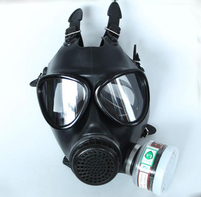 Image 3 - 5 In 1 Industry Paint Spray Black Military Soviet Army Respirator Gas mask Silicone Laboratory Respirator With Filter 40mm-in Chemical Respirators from Security & Protection