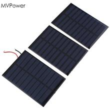 MVPower NEW 5V 0.8W 160mA Solar Panel Battery power charger Module DIY Cell boat home Solar Panel Bank Portable Power Source