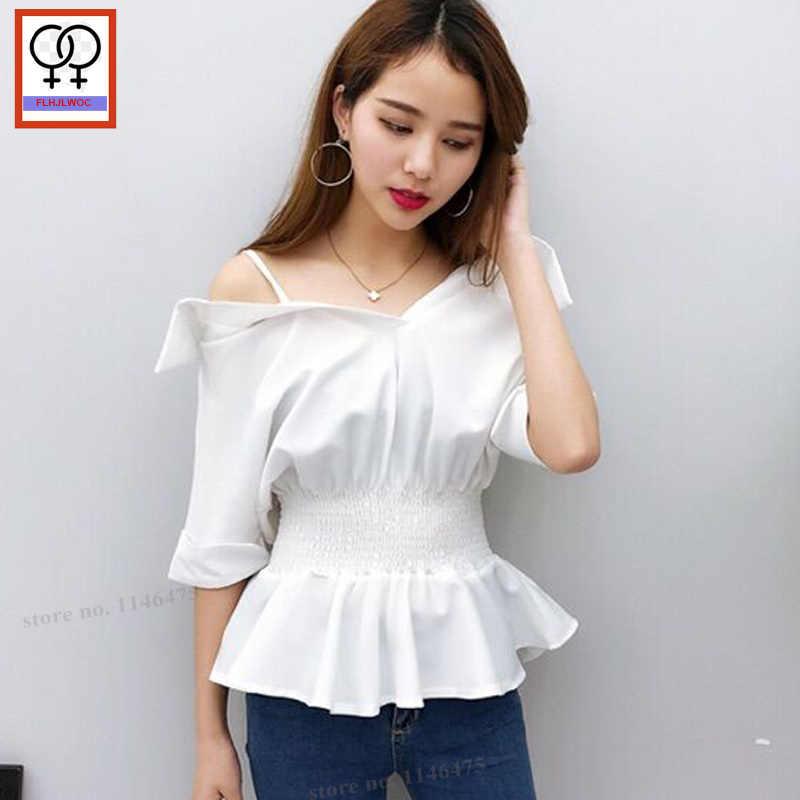 d0cc390a6d6 Off Shoulder Tops New Designer Vintage Women Summer Open Off Shoulder Blouse  Peplum Top Cute Sweet
