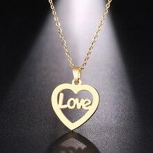 Ожерелье DOTIFI из нержавеющей стали для женщин и мужчин, ожерелье с подвеской в виде благородного сердца золотого и серебряного цвета, ювелирные изделия для помолвки