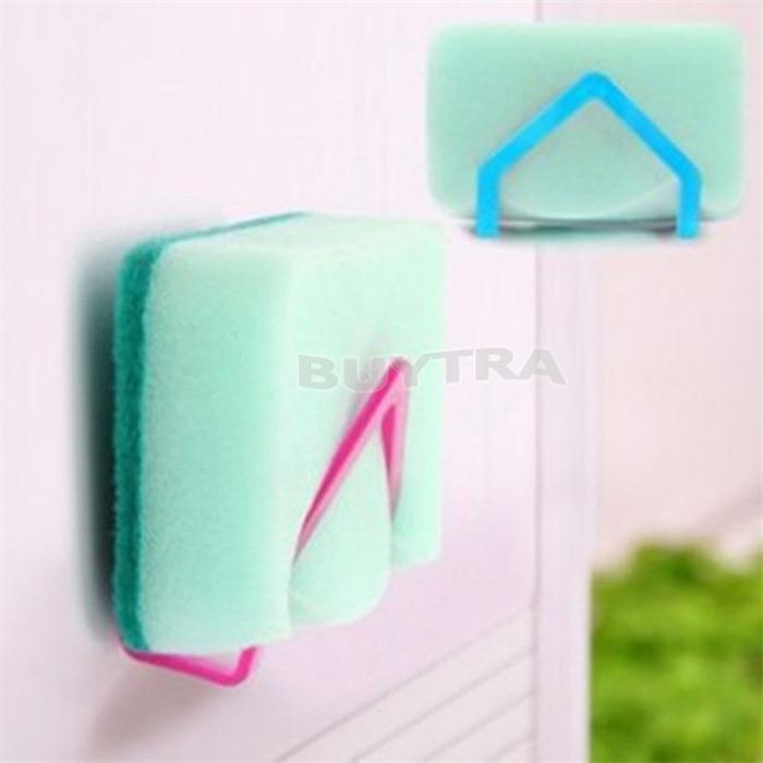 -Складной экологичный губка держатель всасывания Портативный настенный Тип хранения Держатели Стойки Полки для ванной новый