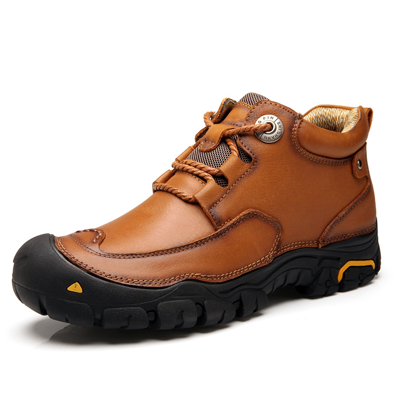 Men's Waterproof Hiking Shoes Outdoor Sports Shoes Genuine Leather Sneakers Breathable Walking camping Mountain Trekking Shoes aqua two outdoor camping men sports hiking shoes genuine leather boots walking sneakers wear resistance lace up shoes es 101022