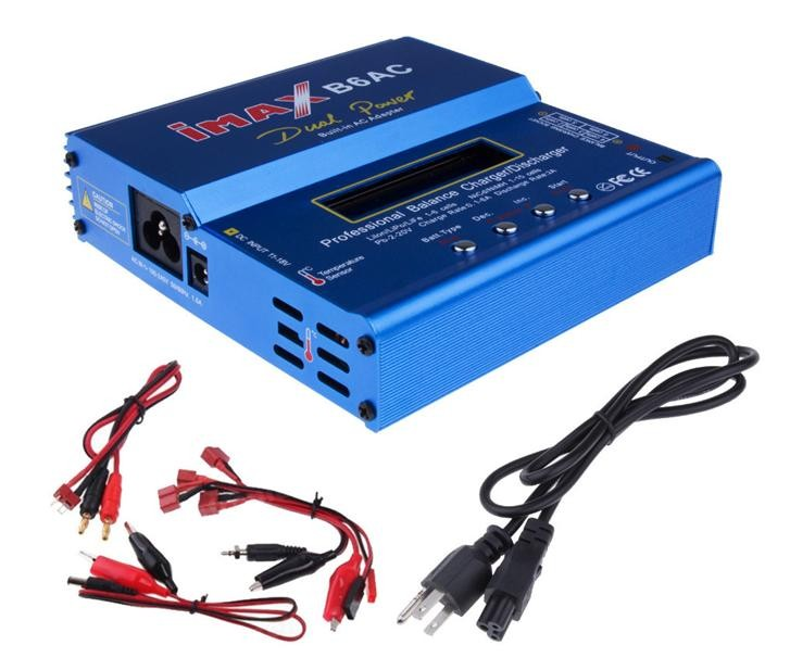 80W iMAX B6 AC B6AC Lipo NiMH 3S/4S/5S RC Battery Balance Charger + EU/US/UK/AU plug power supply wire