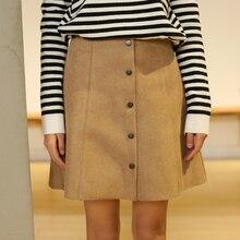 2017 Women'S Kawaii High Waist Spring Single Button Skirt Female Japanese Harajuku Cute Skirts For Women