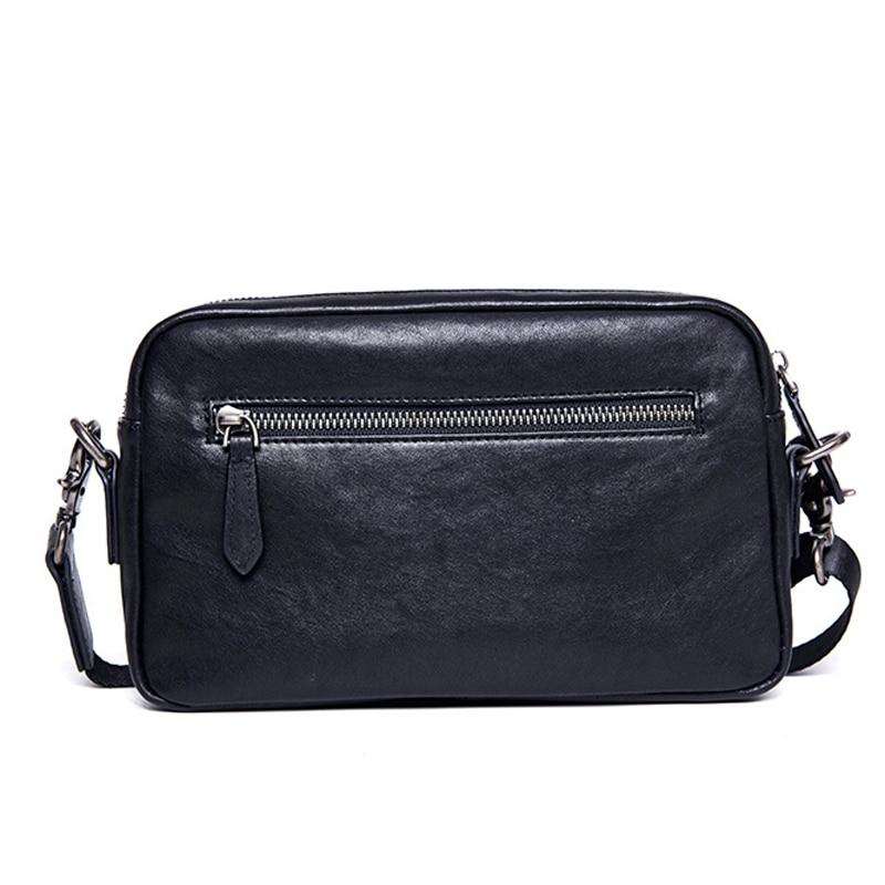 BAQI Brand Men Handbags Genuine Cow Leather Casual Business Mens Shoulder Messenger Bag 2019 Fashion Men 39 s Crossbody Bag male