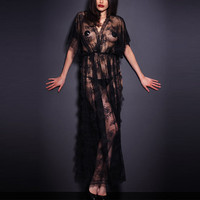 ניו נשים סקסיות Nightwear שמלת ערב התחרה כתונת לילה הלילה לישון בנות Babydoll הלבשת חוטיני הלבשה תחתונה סקסית חלוק