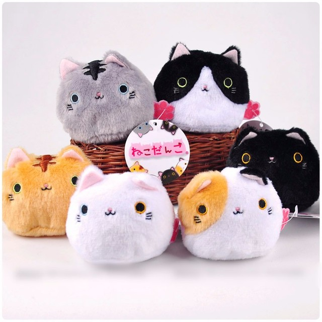 Wholesale 60pcs Lot Cute Animal Cat Plush Stuffed Toy Soft Cartoon