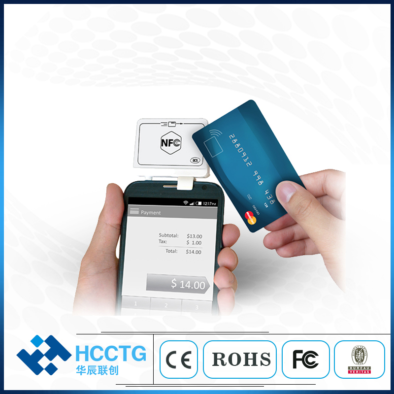 HCCTG ACR35 lecteur de carte Audio NFC/lecteur de carte magnétique pour téléphone portable - 3