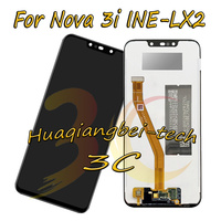 6.3'' New Black For Huawei Nova 3i Nova3i INE LX2 Full LCD DIsplay + Touch Screen Digitizer Assembly 100% Tested With Tracking