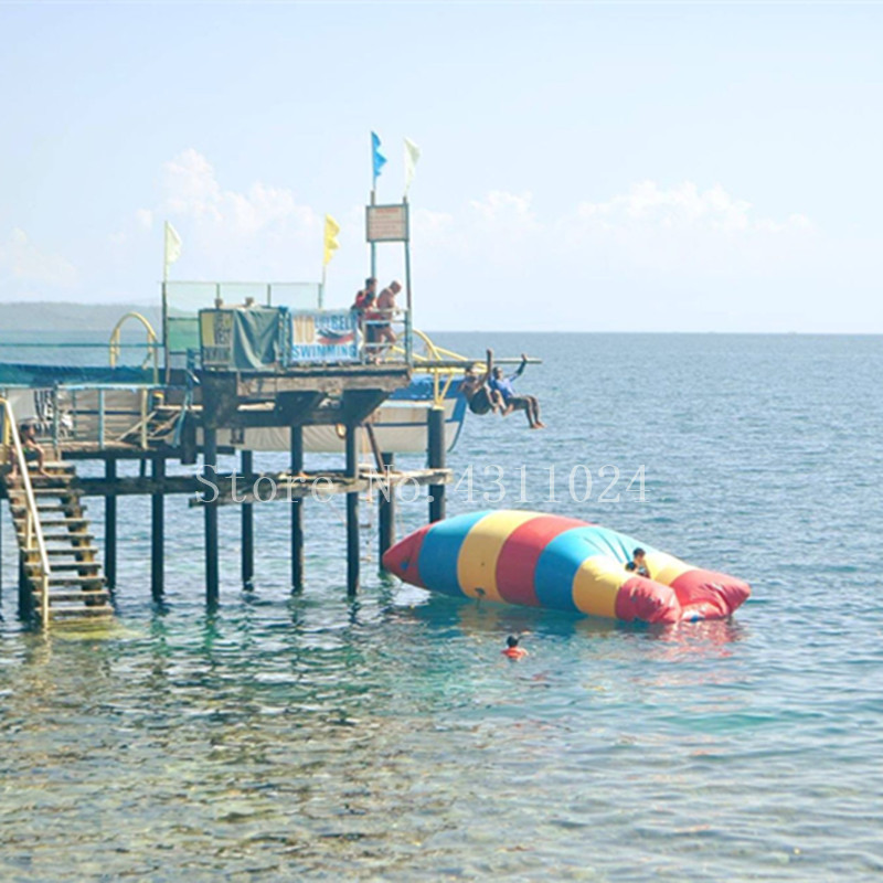 Hibadou 7x2m Inflatable Water Blob Jumping Pillow Water