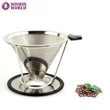 4 Tassen Edelstahl 304 espresso kaffee tropf kaffee cafetera kaffeefilter zubehör mit silikon WW-FE072