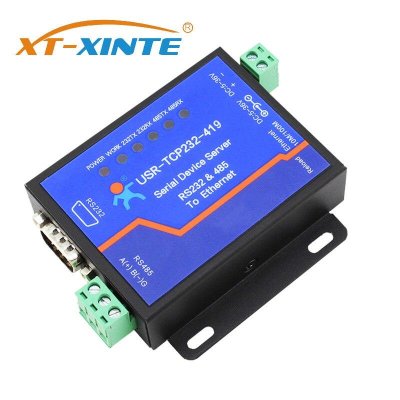 USR-TCP232-419 Serial Device Server RS232 RS485 Al Convertitore di Ethernet di Sostegno Dtr/Dsr Controllo di Flusso