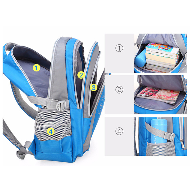 2019 Hot New Children Large Capacity Backpack School Bag For Teenagers Boys Girls  Waterproof 3