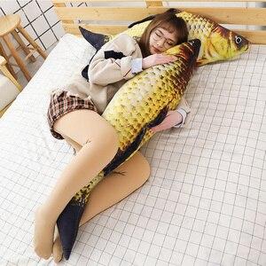 Image 2 - 1pc ファッションシミュレーション鯉ぬいぐるみ魚ぬいぐるみ枕子供クリエイティブソファベッド枕なだめるおもちゃクリスマスギフト