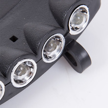 Head Lamp 5 LED Lamps Beads Novelty Head Light Fishing Camping Hunting Hiking Hat Torch Mini Style Headlamp Light CR2023 Battery