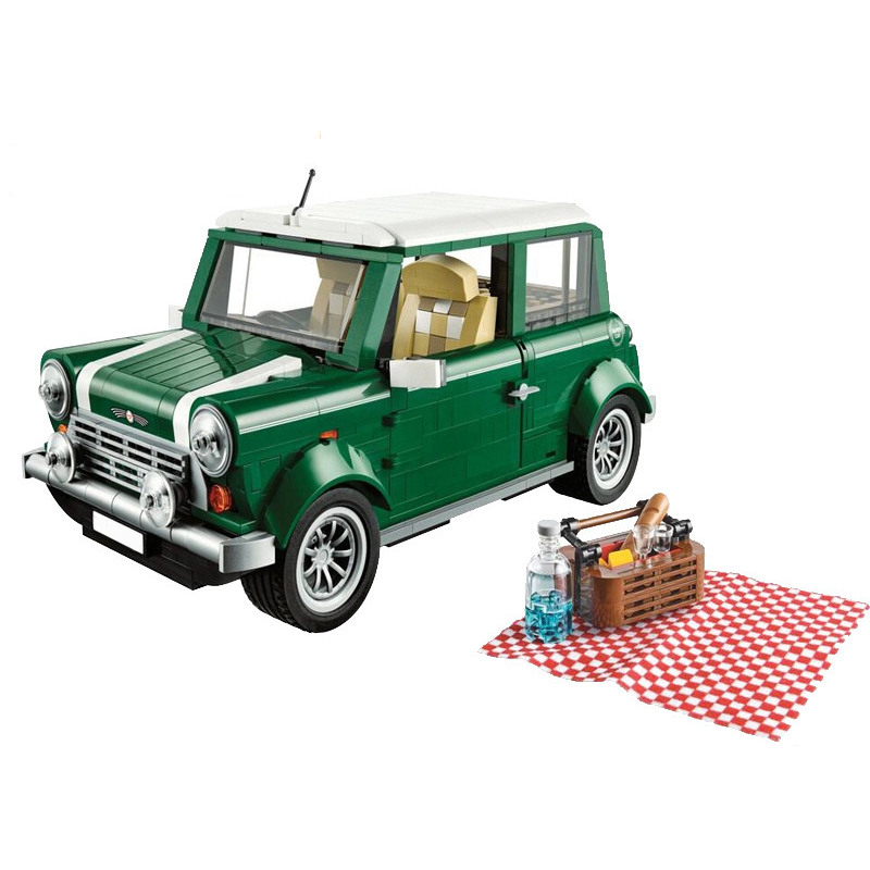 цены Lepin 21002 Technic Series Retro Mini Cooper Cars Model Building Blocks Bricks Compatible Legoed 10242 Blocks Kids Toys Gifts