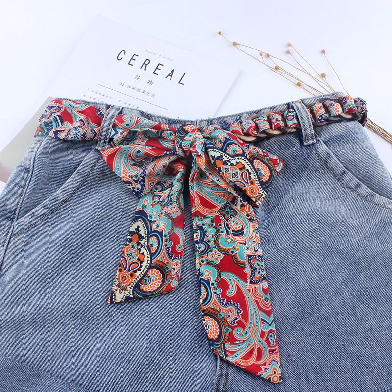 fashion designers wide waist fabric   belts   for women ladies knot rope for dresses female ceinture femme