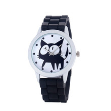 Women Kitty Silicone Quartz Movement Watch Brand New High Quality Luxury Watch 0717