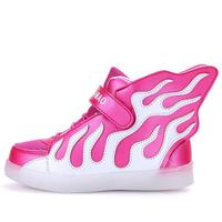 kids LED shoes ultralight boys girls USB charging shoes children colorful LED luminous sneakers fashion wings kids sport shoes