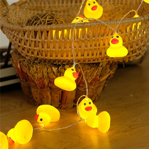 Image 4 - 10Leds/20Leds Mini Yellow Duck LED String Light Glow Indoor Outdoor Xmas Wedding Party Battery Operated LED Fairy Light