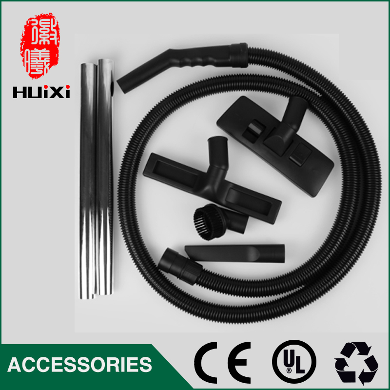Outer Diameter 40mm Black  Flexible EVA Hose+Round brush +Straight pipe+Floor brush+nozzle for Industrial Vacuum Cleaner parts industrial vacuum cleaner parts black pipe eva hose 38mm 45mm genenal hose