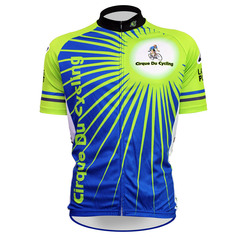 ФОТО 17 Cirque Du Cycling Pattern Men 2017 Sleeve Cycle new Blue 100%Polyester Quick Dry Bike Jersey Size XS-5XL