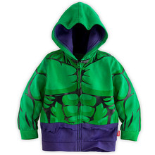New Autumn and winter The boy color Hoodie sweater shirt sleeved green giant cartoon children