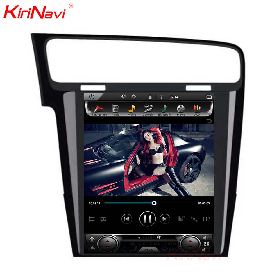 KiriNavi écran Vertical Tesla Style Android 7.1 10.4 lecteur DVD multimédia de voiture pour VW Golf 7 Radio Navigation 2013 2014 2015 + - 2
