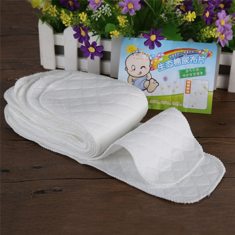10pcs reusable nappies the cloth diapers for newbornschildren Soft and breathable 3 layers nappy liners baby care nappies S&L (7)