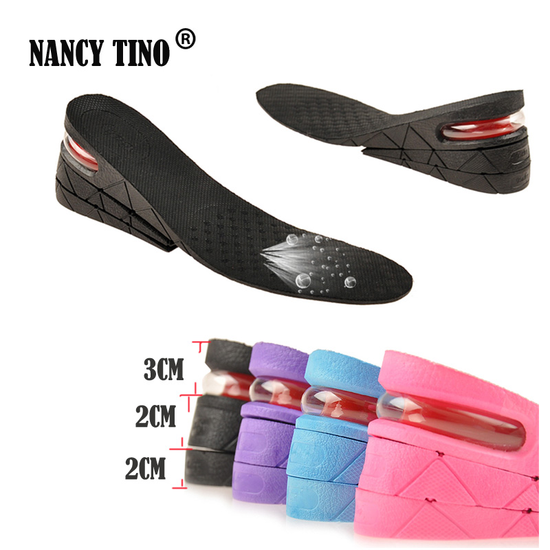 NANCY TINO Unisex Stealth Adjustable Increased Insoles For Shoes Pad Increase Height Insole Air Cushion Lift Pads Heel цена