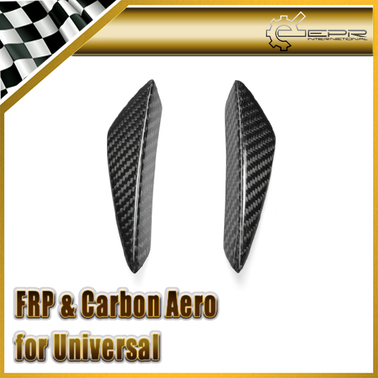 ФОТО Car-styling Real Carbon Fiber Universal Fitment Front Bumper Canard (Small) For Volkswagen Scirocco Golf 6 7 GTI R20 In Stock