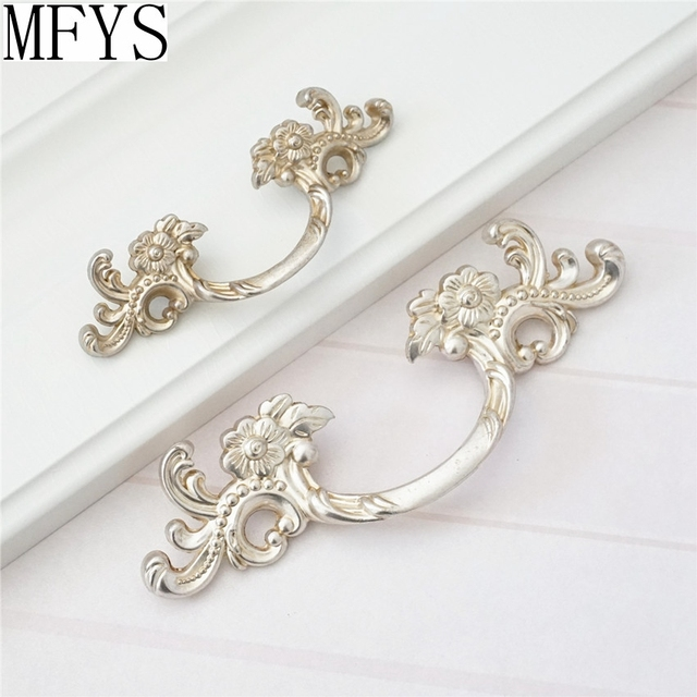 1.75u0027u0027 2.5u0027u0027 Shabby Chic Dresser Pull Drawer Pulls Door Handles Antique  Silver
