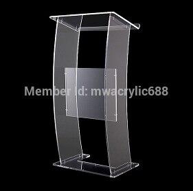 Free Shipping Modern Design Cheap Transparent Clear Acrylic Lectern Podim Plexiglass