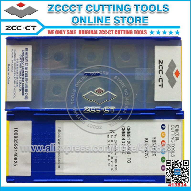 Free Shipping 50pcs CNMG120408-TC YBD152C ZCC inserts carbide plate ZCC.CT lathe tool metal cutter tablet CNMG12 for cast iron indexable internal threading inserts carbide inserts 16ir ag60 lathe cutter for thread turning