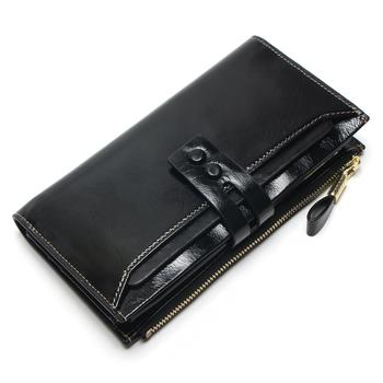 Women's Genuine Leather Clutch Wallet Bags and Wallets Women's Wallets Color: Black