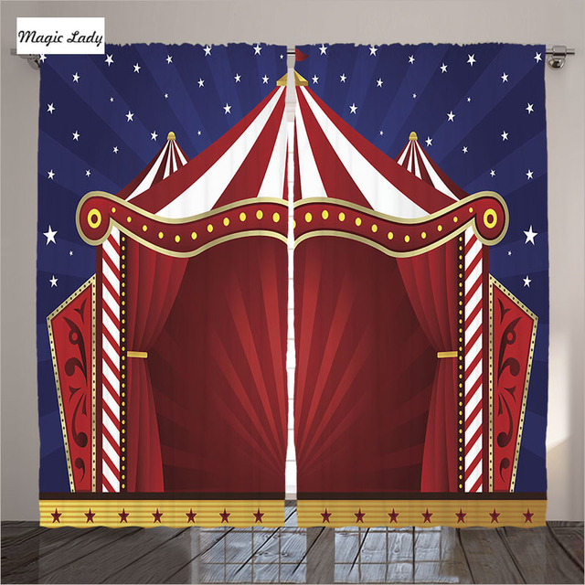 Gordijnen Rood Blauw Circus Home Decor Collectie Canvas Tent Podium ...