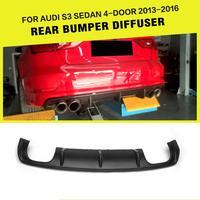 Auto-Styling Frp Rear Diffuser Lip Bumper Guard Voor Audi A3 Sline / S3 Sedan 4-Deur 2013 - 2016