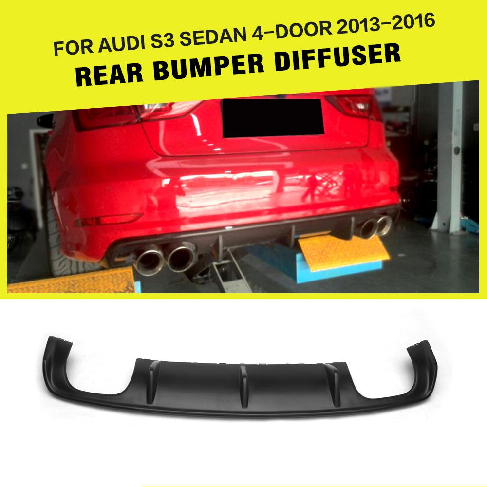 Car-Styling FRP <font><b>Rear</b></font> <font><b>Diffuser</b></font> Lip Bumper Guard for <font><b>Audi</b></font> <font><b>A3</b></font> Sline / S3 Sedan 4-Door 2013 - <font><b>2016</b></font> image