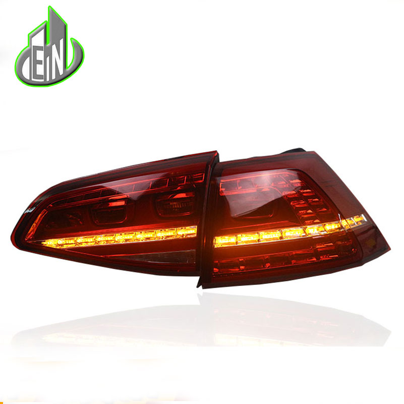 Car Styling For Volkswagen Golf 7 MK7 2013 2016 Tail Lights   Turn Signal Light LED Rear Lamp DRL+Brake+Park+Signal akd car styling for hyundai santa fe led tail lights 2007 2013 new santa tail light rear lamp drl brake park signal