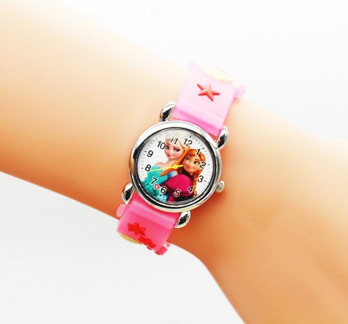 2016 Infantil Reloj Snow Queen Princess elsa anna Cartoon Watch 3D Children Kids Quartz Wristwatches Clock 2016 infantil reloj snow queen princess elsa anna cartoon watch 3d children kids quartz wristwatches clock