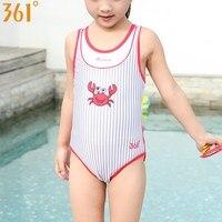 0ae0c11284c30 361 Striped Girls Swimsuit 4 12 Years Cartoon Crab One Piece Swimwear For Girl  Cute Kids