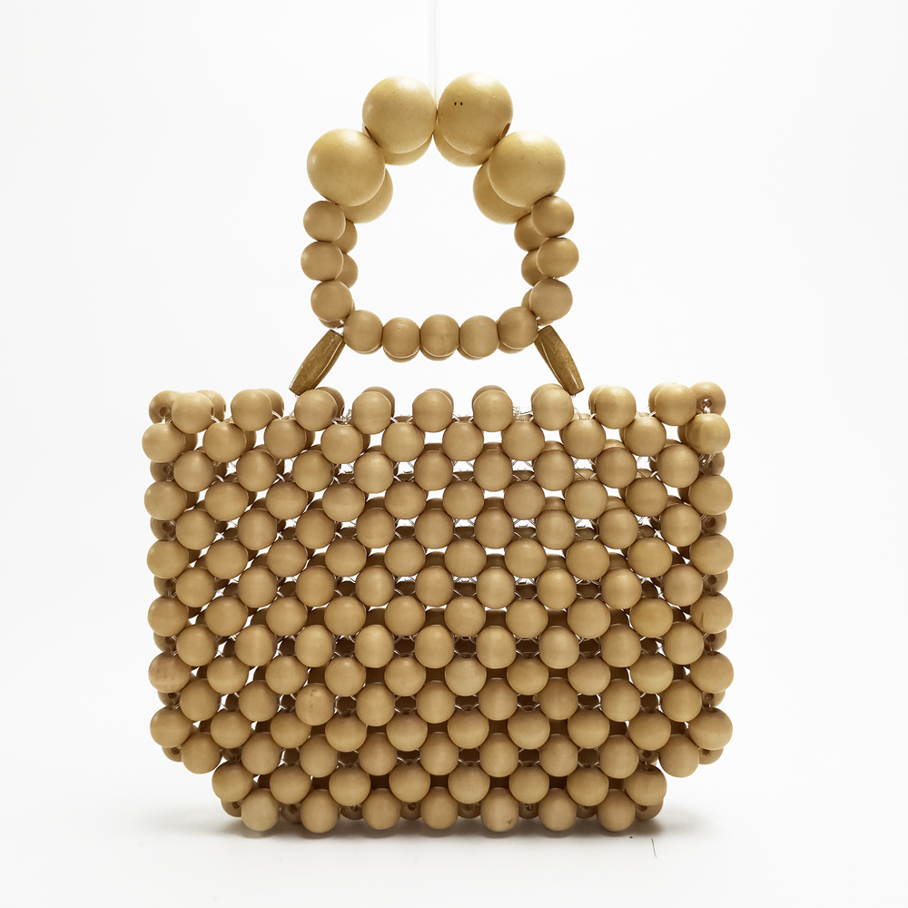 2019 New Wooden Bags Women Beaded Bag Woven Hand Fashion Small Bag Dinner Clutch 3-color2019 New Wooden Bags Women Beaded Bag Woven Hand Fashion Small Bag Dinner Clutch 3-color
