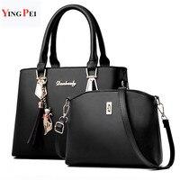 Женская сумка модная повседневная содержит две упаковки роскошная дизайнерская сумка сумки на плечо новые сумки для женщин 2019 композитная ...