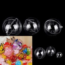 One Or 5pcs 4/5/7/8cm Transparent Open Plastic Christmas Tress Decoration Ball Clear Bauble Ornament Gift Present Box Decoration(China)