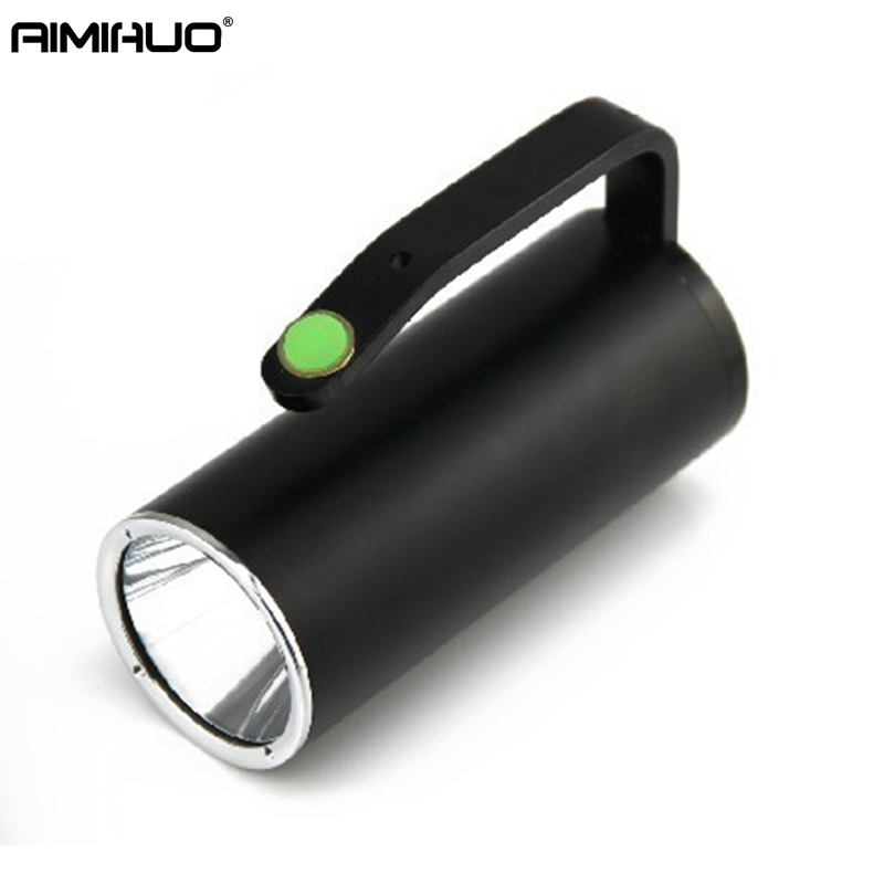 AIMIHUO LED Torch Portable Searchlight T6 LED Flashlight lamp explosion-proof Hard Light Torch For Rechargeable Lithium Battery 12 16 20pcs 3 7v inr 18350 rechargeable lithium ion battery cell 900mah for led flashlight torch and speaker