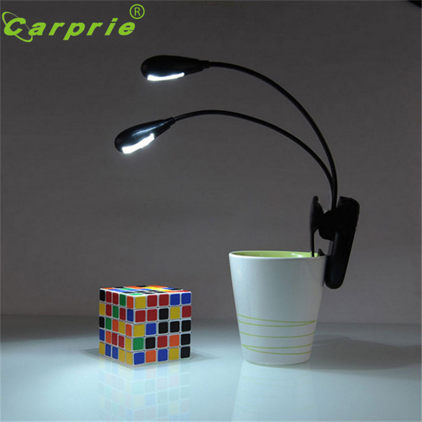 Super Adjustable Goosenecks Clip On LED Lamp For Music Stand And Book Reading Light Du(China)